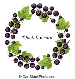 Nature background design with black currants. - Nature...