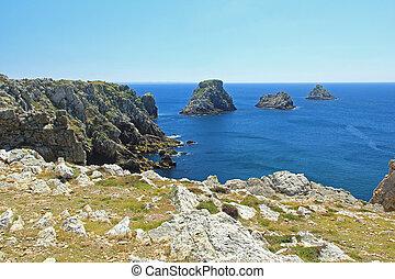 """Tas de Pois, Brittany, France - """"Les Tas de Pois"""" (the..."""