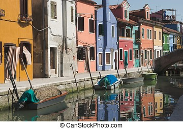 Channel on the island of Burano