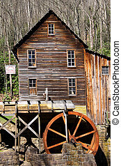 Grist glade creek mill in the West Virginia