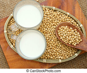 Soybean, soymilk, nutrition beverage - Soybean name Glycine...