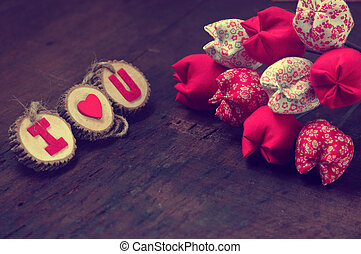 Valentine background, I love you message - Valentine...