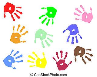 mão, impressões