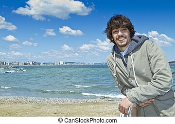 Portrait of Boy Smiling on the Beach
