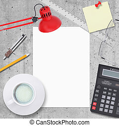 Business concept with office and business work items -...