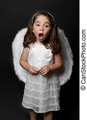 Angel singing carols or worship - Holy angel singing carols,...