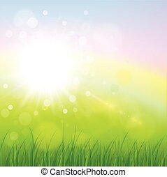 Natural background - Natural sunny background, spring green...