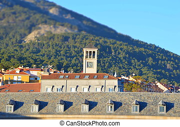 El Escorial village tilt shift - El Escorial village Madrid...