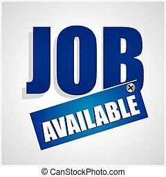 Job concept vector format