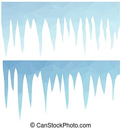 polygonal blue icicles