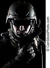 unidas, Estados, exército, guarda-florestal, com,...