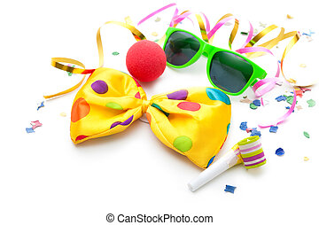 Colorful carnival background with stripes and mask