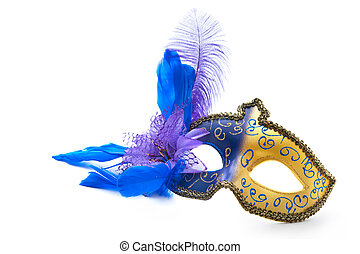 Female carnival mask isolated on white background