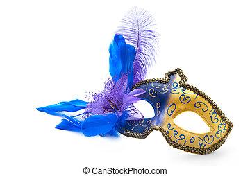 Female carnival mask isolated on white background