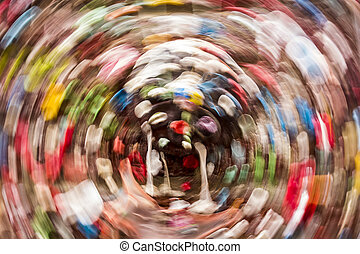 Gum Wall Background With Circular Motion Blur - Abstract...