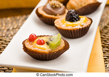 Pastries - photo of different delicious pastries on the...