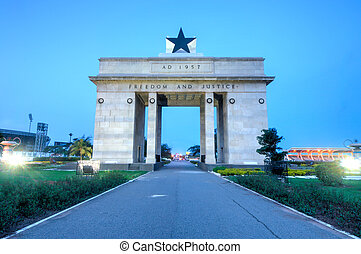 independencia, arco, Accra, Ghana,