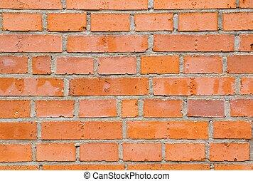 closeup, de, Tijolos, parede,