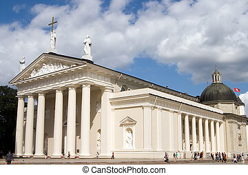 Vilnius Cathedral - famous Cathedral in Vilnius - capital of...