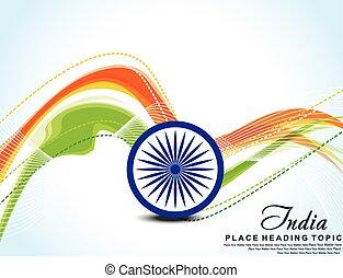 Indian Flag wave background