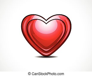 abstract glossy heart vector