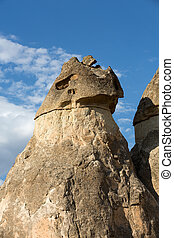 Rock formations in Goreme National Park Cappadocia, Turkey