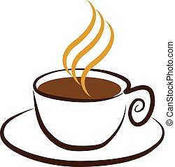 Cup Coffee logo - Vector of Cup Coffee icon design