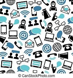 communication seamless pattern
