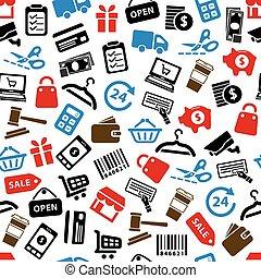 shopping seamless pattern