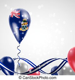 Flag of the Cayman Islands on balloon Celebration and gifts...