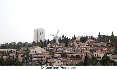 Panorama of West Jerusalem Yemin Mo - Panorama of West...