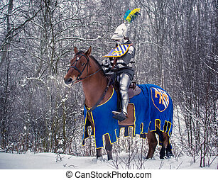 "Medieval knight. Interclub Association ""Cavalerie""...."