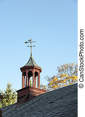 Cupola - Aging cupola with weathervane