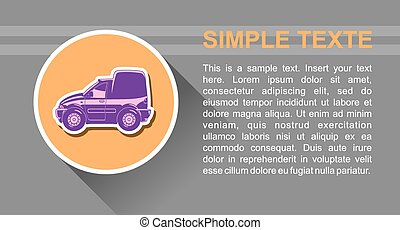 Delivery van - Vector illustration of delivery van Long...