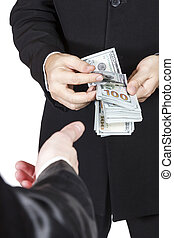 Hand reaching for money - Hand one man reaching for the...