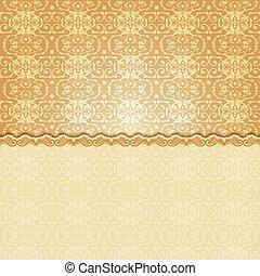 Vintage background, antique floral pattern