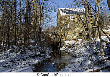 Cooper Gristmill on the Black river in New Jersey