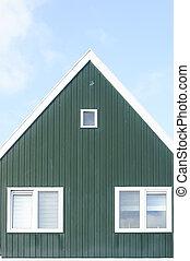 Gable - An alternative triangular gable of a Dutch house....