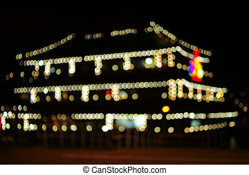 Restaurant fairy lights - The colorful light circles from...