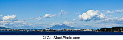 Gulf of Naples - Beautiful Gulf of Naples, panoramic view
