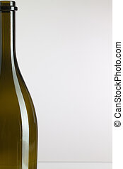 Detail of empty wine bottle