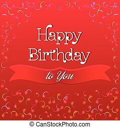 Happy Birthday Greeting Card - Colorful Happy Birthday...