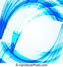 Abstract  blue background with bent lines.