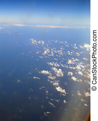 view out of the airplane - view out of the airplane on a...