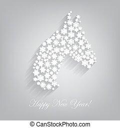Horse. Happy new year 2014.