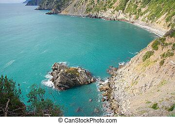 Montonaio rock bay Monasteroli 5 Terre Liguria Italy