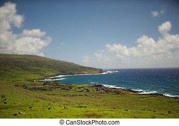 isla,  pascua,  De,  nui,  ISLA,  rapa,  tilt-shift, Pascua