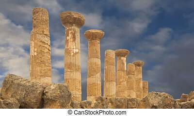 ancient Greek temple of Heracles - Remains of an ancient...