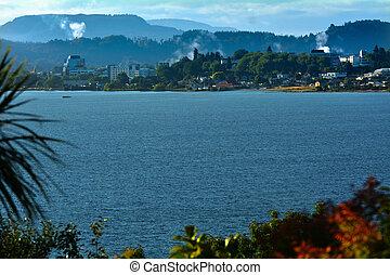Lake Rotorua - New Zealand - Landscape view of Lake Rotorua...