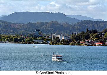 Lake Rotorua - New Zealand - ROTORUA, NZL - JAN 10...
